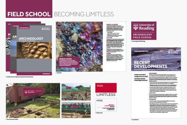 The University of Reading brand guideline examples
