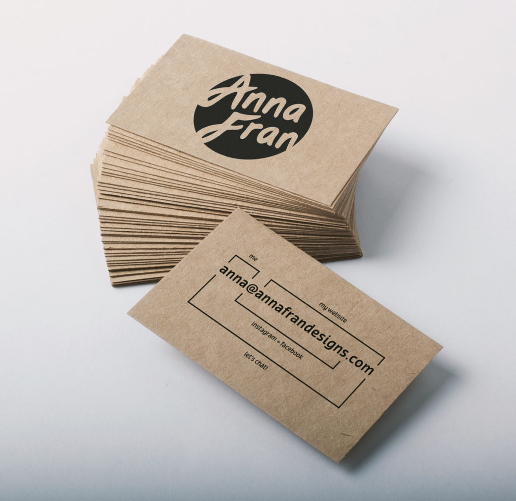 Logo stamp business cards