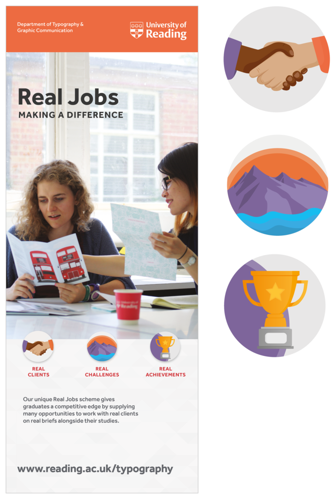 Design development for the Real Jobs banner