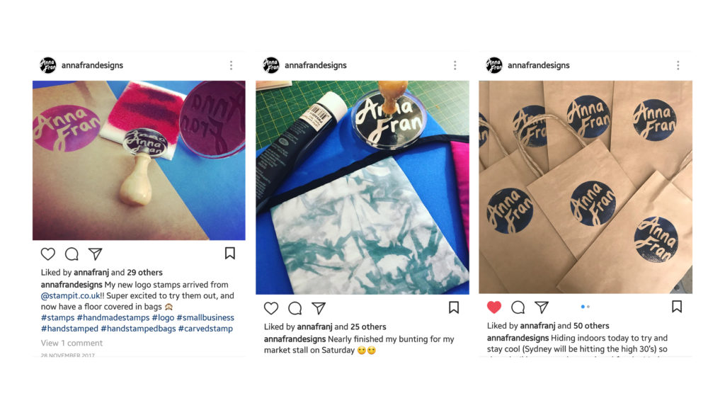 Anna Fran Designs Instagram posts