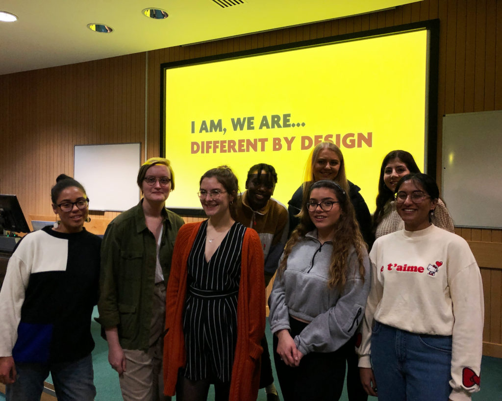 The 'I am, we are… Different by design' team at Baseline shift, Week 10