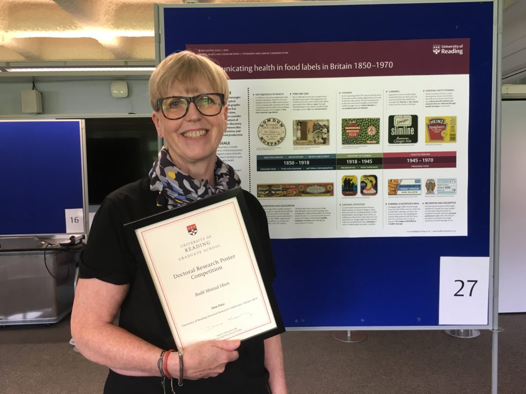 Bodil Mostad Olsen and research poster