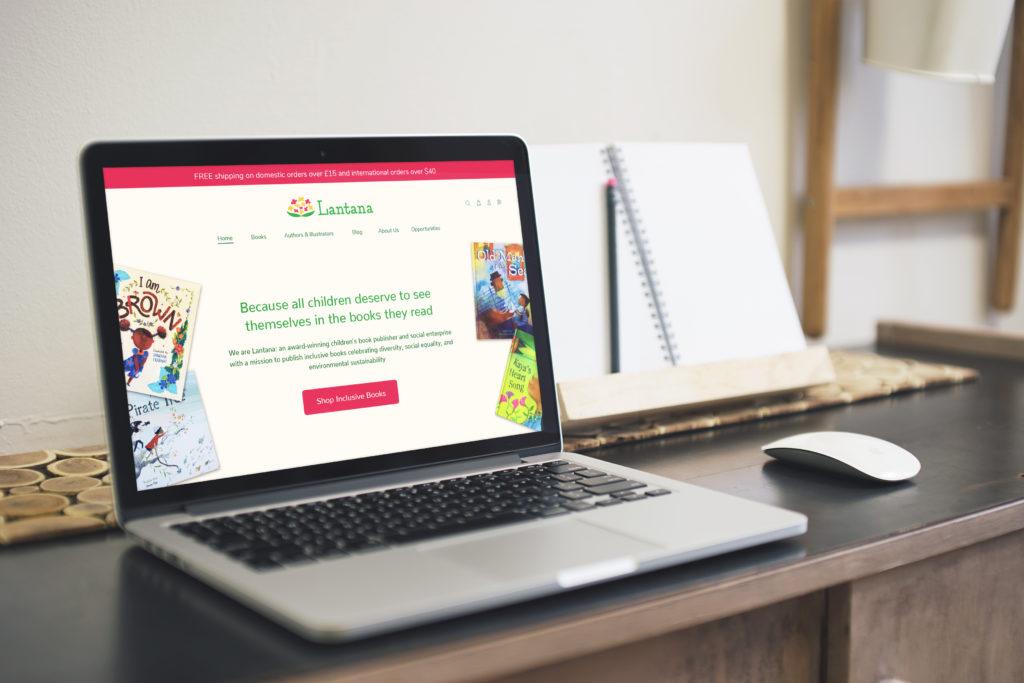 Image of laptop showing Lantana website